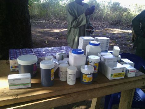 Drugs for medical outreach in Lukuku village, Abaji LGA, Abuja