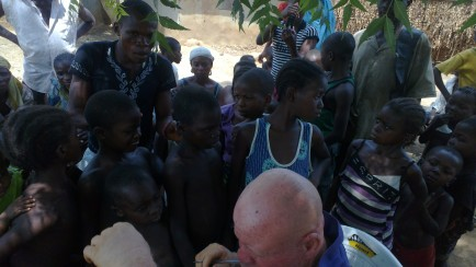 Children waiting to receive medical care
