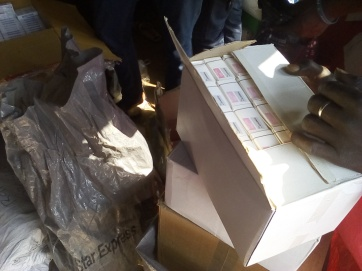 Drugs from Health Line Nigeria for Outreach in North East Nigeria
